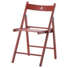 كرسي قابل للطي لون أحمر زان مصمت