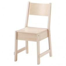 كرسي مع خشب البتولا الأبيض