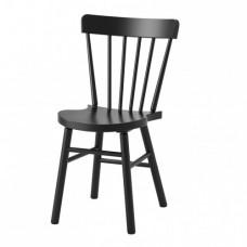 كرسي لون أسود- زان مصمت