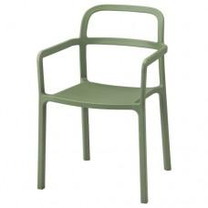 كرسي مع مسندين للذراعين للأماكن الداخلية/الخارجية لون  أخضر