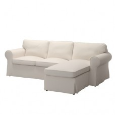 صوفا 3 مقعد, مقعد بدون ظهر مع أريكة استرخاء لون بيج