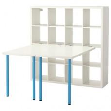 مكتب+ مكتبين لون أبيض وأزرق