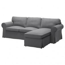 صوفا 3 مقعد أريكة استرخاء لون رمادي داكن