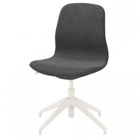 كرسي دوار لون رمادي داكن أبيض