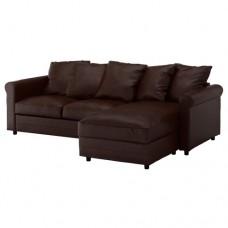 صوفا 3 مقعد لون بني داكن