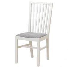 كرسي لون أبيض- رمادي