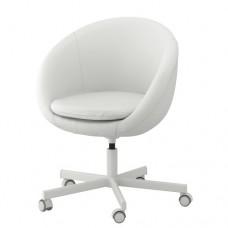 كرسي دوار لون أبيض