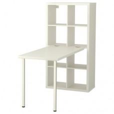 مكتب+ مكتبه لون أبيض 77x147 سم