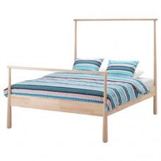 هيكل سرير خشب بتولا 140x200 سم