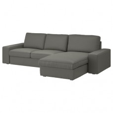صوفا 3 مقعد, مع أريكة استرخاء,رمادي-أخضر
