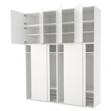 خزانة ملابس لون أبيض 240x61x281 سم