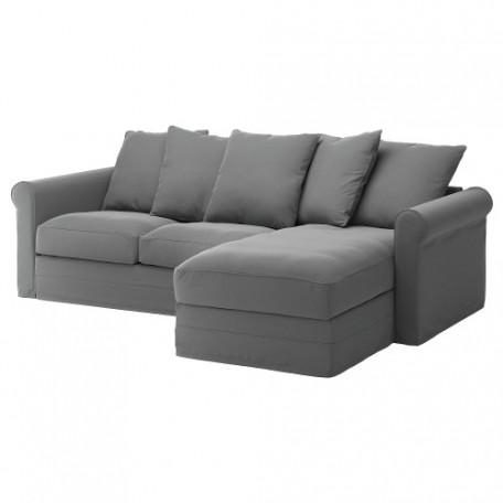 صوفا 3 مقعد بأريكة استرخاء,رمادي متوسط