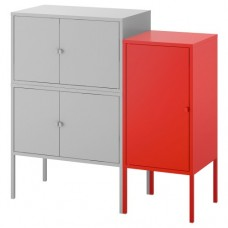 تشكيلة خزانة, رمادي, أحمر