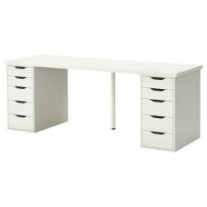طاولة مكتب لون أبيض 200x60 سم