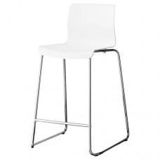 كرسي بار لون أبيض مطلي بالكروم 66 سم