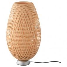مصباح طاولة مطلي بالنيكل روطان خيزران