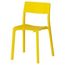 كرسي لون أصفر بلاستيك