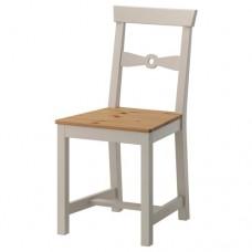 كرسي طلاء عتيق فاتح لون رمادي
