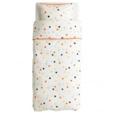 غطاء لحاف وكيس وسادة متعدد الألوان