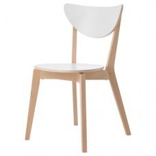 كرسي خشب لون أبيض