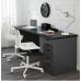 طاولة مكتب لون فنجا رمادي 200x60 سم
