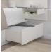 هيكل سرير مع تخزين ولوح رأس أبيض 200*160 سم