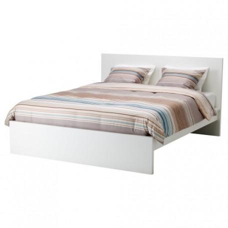 تخت خشب لون أبيض 160x200 سم