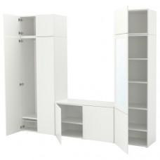 خزانة ملابس لون أبيض 260x42x221 سم