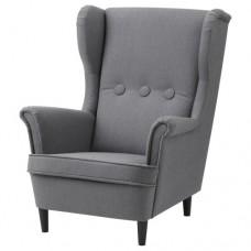 كرسي أطفال مع مساند للذراعين لون رمادي