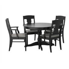 طاولة و4 كراسي, أسود
