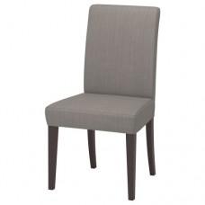 كرسي لون بني داكن رمادي بيج
