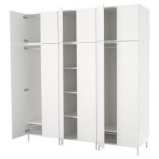 خزانة ملابس لون أبيض  240x57x251 سم