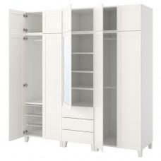 خزانة ملابس لون أبيض  220x57x231 سم