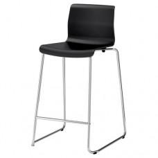 كرسي بار لون أسود مطلي بالكروم 66 سم