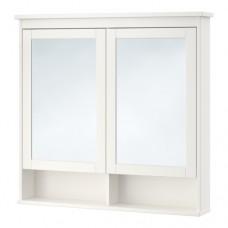 خزانة بمرآة مع بابين, أبيض