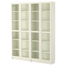 مكتبة أبيض زجاج 160x202x30 سم