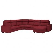 صوفا زاوية، 6-مقاعد, بأريكة استرخاء, أحمر-بني