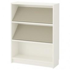 مكتبة مع رف عرض أبيض بيج 80x106x28 سم