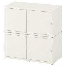 مجموعة خزانة معلقة على الحائط أبيض