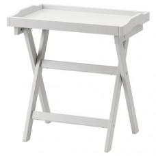 طاولة صينية لون رمادي 58x38x58 سم