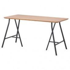 طاولة, الخيزران, رمادي 140x65 سم