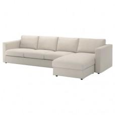 صوفا 4 مقعد بأريكة استرخاء لون بيج