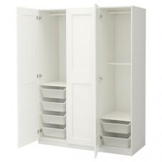 خزانة ملابس لون أبيض 150x60x201 سم