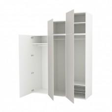 خزانة ملابس لون أبيض  رمادي فاتح