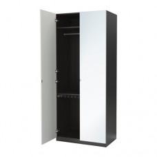 خزانة ملابس مرآة تشمل رفين+ علاقة+ علاقة بنطلون تسحب للخارج