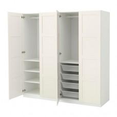 خزانة ملابس لون ابيض 200x60x201 سم