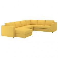 صوفا زاوية، 5-مقاعد لون ذهبي-أصفر