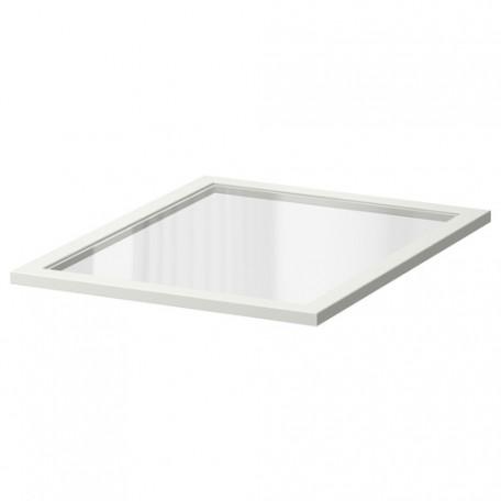 رف زجاجي أبيض 50x58 سم