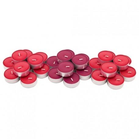 شمع صغير معطر توت الحدائق الأحمر 30 قطعه