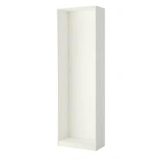 إطار خزانة الملابس لون أبيض 75x35x236 سم